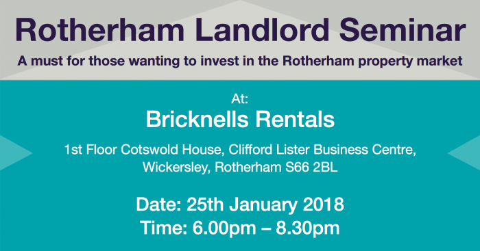 This is a text image containing details to the Rotherham landlord seminar - also found in the blog text.